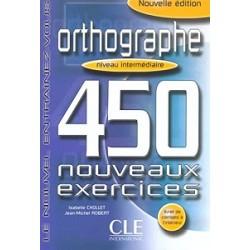 450 nouveaux exerc Orthographe Interm Livre + corriges